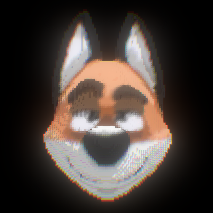 Voxel Fox.  by StrangeFox
