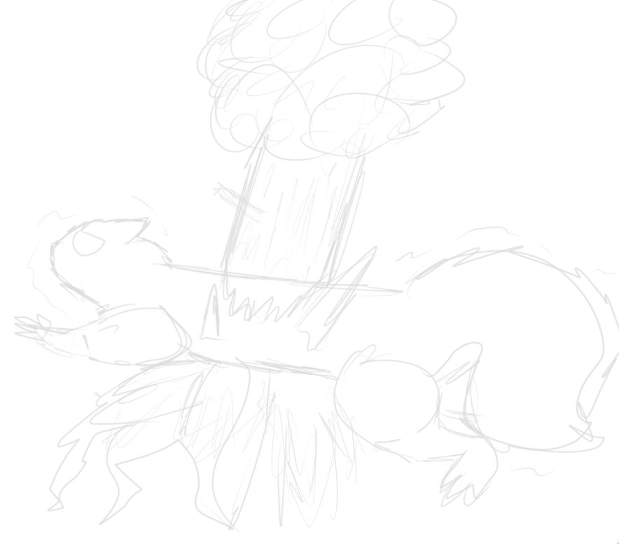 Squirrel Tree Body Horror WIP by UltiDaisy