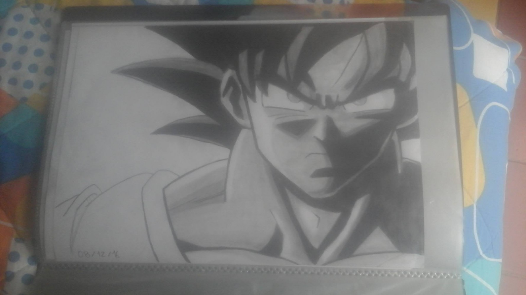 Goku with pencil:) by Skulldeath